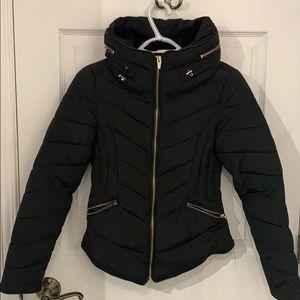 Black Zara puffer winter jacket